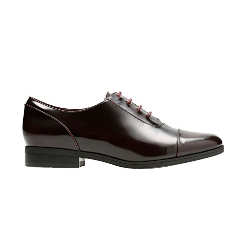 Shoes Oxfords Burgundy (CLARKS Women's Tilmont Ivy Oxford, Burgundy Leather, 7 M US)