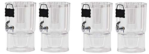 Buddeez Pary Top Beverage Dispensers, 1.75 Gallon, Clear (Pack Of 2) (2-(Set) of 2)