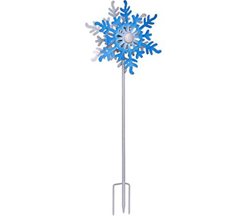 Winter Accent (Design Accents Solar Snowflake Wind Spinner, 40
