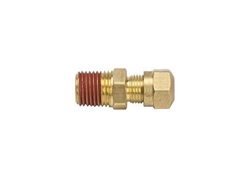 1//2 Tube OD x 3//8 Male NPT Compression Fitting Pack of 5 Sets LTWFITTING DOT Air Brake Male Elbow