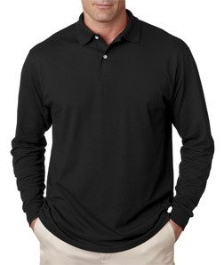 Jerzees Men's Jersey Long Sleeve Polo with Spotshield