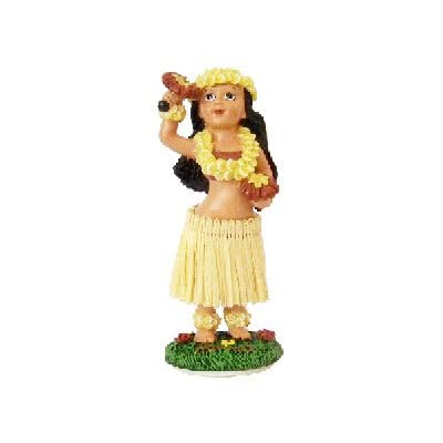 KC Hawaii Hula Girl with Uliuli Dashboard Doll 4 inches: Home & Kitchen