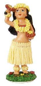 Hula Dancers - KC Hawaii Hula Girl with Uliuli Dashboard Doll 4 inches