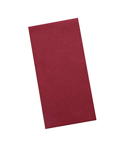 Burgundy Napkins | Linen Feel Guest Disposable Cloth Like Paper Dinner Napkins | Hand Towels | Soft, Absorbent, Paper Hand Napkins for Kitchen, Bathroom, Parties, Weddings, Dinners Or Events | 50 Pack (Burgundy Paper Napkins)