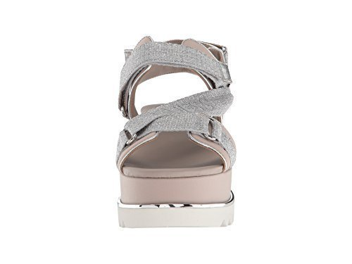 GUESS Women's laureta Wedge Sandal, Silver, 6 M US from GUESS