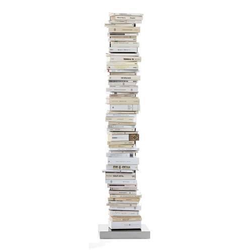 PTOLOMEO Büchersäule freistehend 160 cm kpl. Edelstahl/Fuß Edelstahl