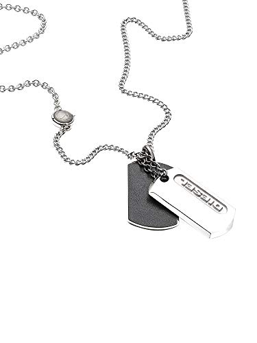 Diesel Dog Tag Necklace DX0954040 with Gift Box
