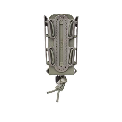 ((OD Green) Soft Shell Scorpion -Tall- Pistol Mag Carrier with P1 molle/Stacking Clip 100% Made in The USA (1153-3A))