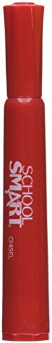 School Smart Permanent Markers - Chisel Tip - Pack of 12 - Red by School Smart