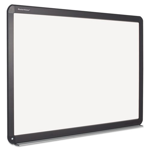 MasterVision Interactive Magnetic Dry Erase Board, 51.2 x 39.68 x 4.2, White/Black Frame by MasterVision