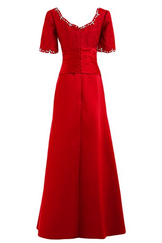Bateau Maxi Bride The Sunvary a Gowns Red Graceful corte of maniche Dresses scritta elegante Pageant