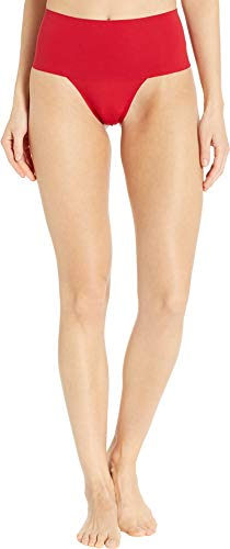 SPANX Women's Undie-Tectable Thong Rouge Red Large