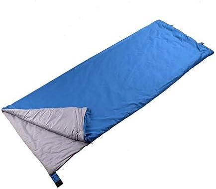 OuYee Saco de Dormir, cabaña Saco de Dormir Ultraligero Saco de Dormir Verano, Ultrafina Viaje Saco de Dormir Compacto, Color Azul, tamaño Talla única, 1.87