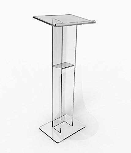 FixtureDisplays Acrylic Podium Plexiglass Pulpit School Church Lectern 15198-NF