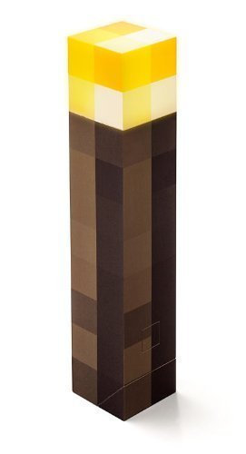 ThinkGeek Minecraft Light-Up Wall Torch - Mounts To Your Wall - Officially Licensed Minecraft Collectible ()