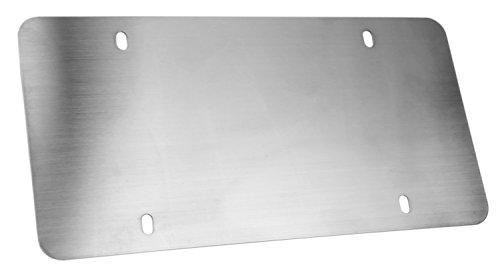 LFPartS Stainless Steel Backing Reinforce Plate License Plate (12