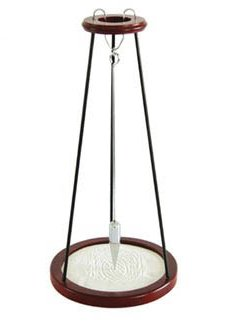 - Pit and Sand Pendulum in Rich Mahogany Finish - 20 inch Tall