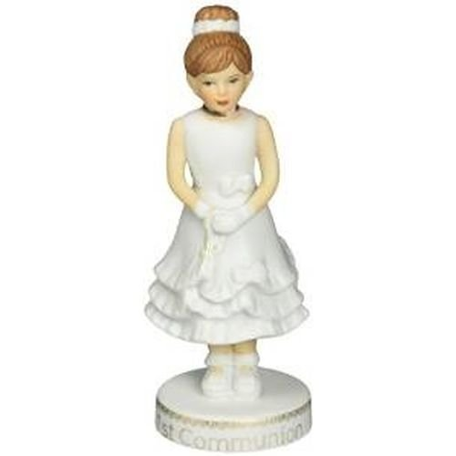 "Enesco Growing Up Girls ""Brunette First Communion"" Porcelain Figurine, 5"""