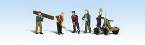 Accents Figures Scenic (Woodland Scenics HO Scale Scenic Accents Figures/People Rail Workers/Handcar (5) by Woodland Scenics)