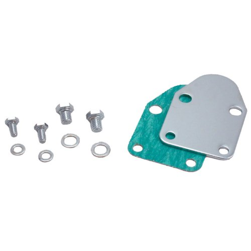 42463 Fuel Pump Block-Off Plate with Bolts for Small Block Chevy (Chevrolet Small Block)