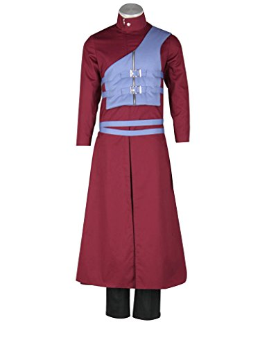 Mtxc Men's Naruto Cosplay Costume Gaara 7th Size X-Small Red