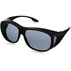 Solar Shield Fits Over Sunglasses Classic Elm Square (L) Blk/Gry