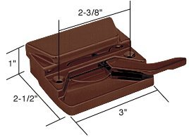 CRL Right Hand Bronze Casement Window Lock; 2-3/8