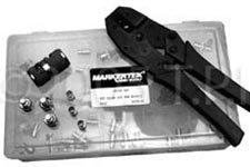 (RCA Crimp Kit with 50 RCA Video Connectors; Crimper; Stripper & Case-by-tecnec)