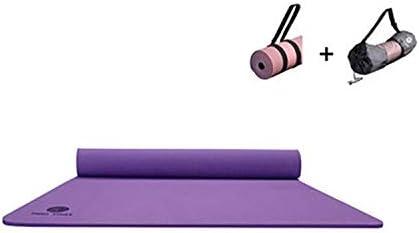 Eco friendly ヨガ、ピラティス、床運動のための厚いソリッドカラーモノクロ広がったTPEプレミアムスポーツヨガマット80センチメートル exercise (色 : Purple)