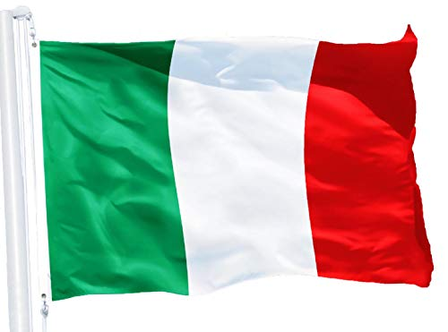 G128 – Italy (Italian) Flag | 3x5 feet | Printed 150D – Indoor/Outdoor, Vibrant Colors, Brass Grommets, Quality Polyester, Much Thicker More Durable Than 100D 75D -