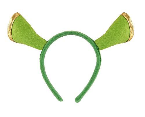 FNA FASHIONS Best Dress Shrek OGRE New Headband Fancy Dress Princess Fiona Day Book Accessory]()