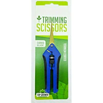 Top Grower Titanium Curved Trimming Scissors : Garden & Outdoor