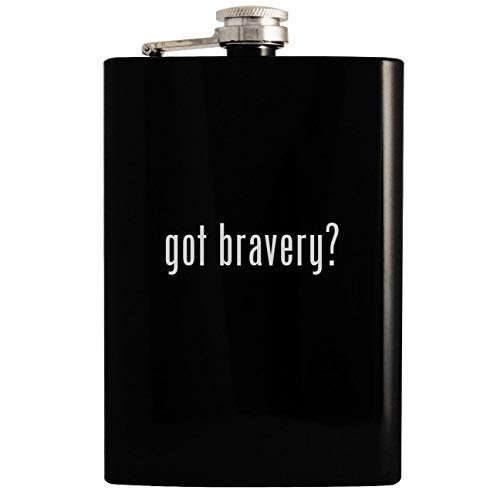 (got bravery? - 8oz Hip Drinking Alcohol Flask, Black)