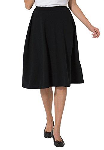 Womens Stretch Ponte Petite Skirt