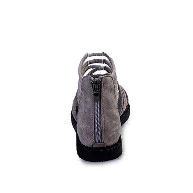 LvYuan Tacón Plano-Confort-Sandalias-Vestido Informal-PU-Negro Gris Light Grey