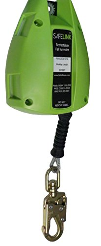 Safewaze Safelink 30Ft Cable Retractable Lifeline W Snap Hook