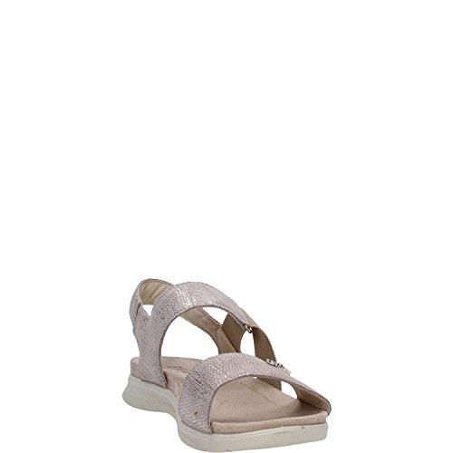 ENVAL - Sandalias de vestir para mujer Gris Platino Platino