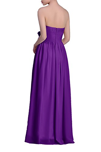 Women's Strapless A Chiffon Line Long Lapis Dress Adorona SpqTdT