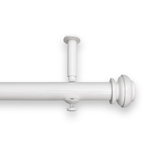 Source Global Bold Pole Adjustable Curtain Rod Set, 28-Inch to 48-Inch, White by Source Global
