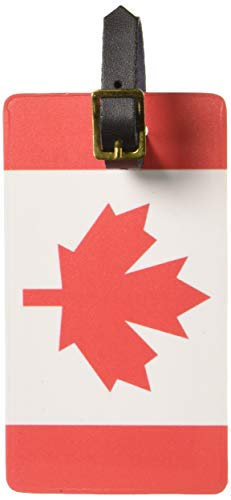 - Graphics & More Canada Flag Luggage Tags Suitcase Carry-on Id, White