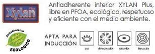 el/éctrica vitroceramica Protector de Tela WECOOK Ecogreen Sart/én Freidora con Cestillo 20cm inducci/ón Antiadherente ecol/ógico sin PFOA Gas Full Induction
