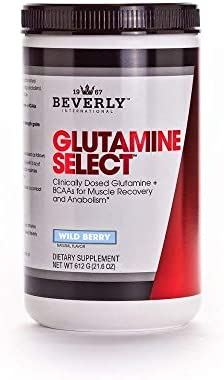 Beverly International Glutamine Select, 60 Servings. Clinically dosed glutamine and BCAA Formula for Lean Muscle and Recovery. Sugar-Free. Great for Keto, Fasting, Weight-Loss Diets.