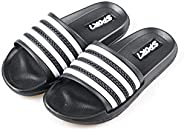 Ku-lee Kids Lightweight Slide Sandals- Wearproof Slip on Sandals Shoes for Indoor or Outdoor-Flexible House Sl