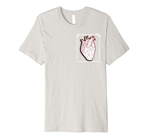 Men's Geometric Framed Heart Medium - Heart Framed