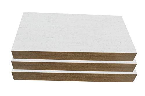 Sound Deadening Material 6mm Cork Wall Tiles White Bamboo 12