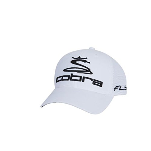 Cobra Men's Pro Tour Fly-Z Sport Mesh Flexfit Cap, White, Small/Medium