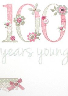 100th Birthday Card PLK2074 Made With Love