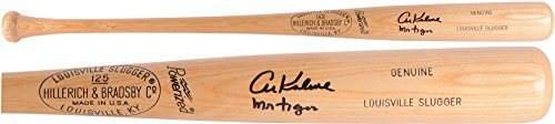 Al-Kaline-Detroit-Tigers-Autographed-Louisville-Slugger-Blonde-Bat-with-Mr-Tiger-Inscription-Fanatics-Authentic-Certified