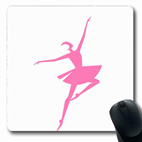 Ahawoso Mousepads Dress Action Ballet Dancer Ability Grace Amusing Attractive Body Build Design Dispose Oblong Shape 7.9 x 9.5 Inches Non-Slip Gaming Mouse Pad Rubber Oblong Mat - Dress Idol