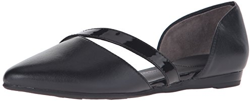 Lifestride Womens Quell Bout Pointu Plat Noir